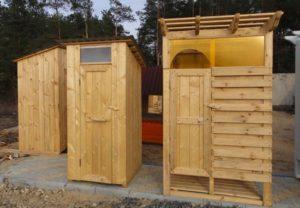 деревянная душевая кабина для дачи