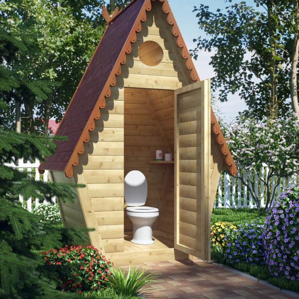 Дачные туалеты из дерева. Все за и против