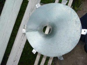 воронка из стального оцинкованного листа для устройства дачного унитаза