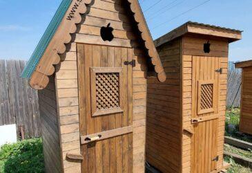 Дачный туалет / деревянный туалет «Резной»